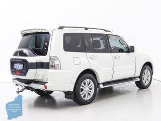 2018 Mitsubishi Pajero NX MY18 GLS LWB (4x4) White 5 Speed Auto Sports Mode Wagon