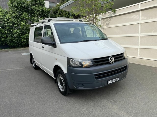 Used Volkswagen Transporter T5 MY11 Low Roof Zetland, 2011 Volkswagen Transporter T5 MY11 Low Roof White 6 Speed Manual Van