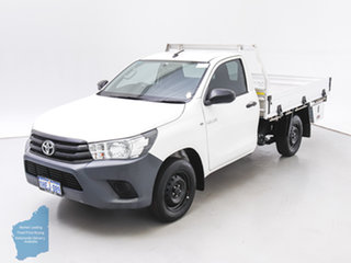 2018 Toyota Hilux TGN121R MY17 Workmate White 6 Speed Automatic Cab Chassis
