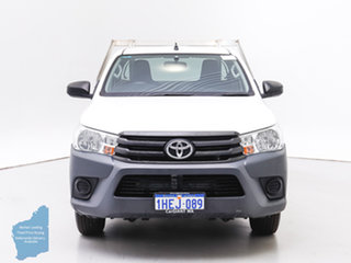 2018 Toyota Hilux TGN121R MY17 Workmate White 6 Speed Automatic Cab Chassis.
