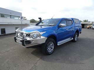 2017 Mitsubishi Triton MQ MY17 GLS Double Cab Impulse Blue 6 Speed Manual Utility.