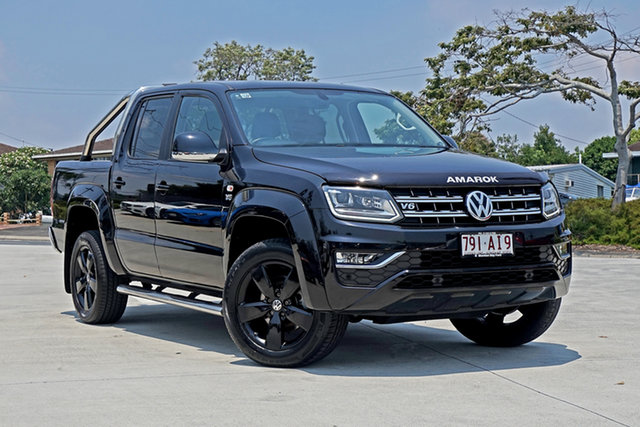 Used Volkswagen Amarok 2H MY17 TDI550 4MOTION Perm Highline Capalaba, 2017 Volkswagen Amarok 2H MY17 TDI550 4MOTION Perm Highline Black 8 Speed Automatic Utility