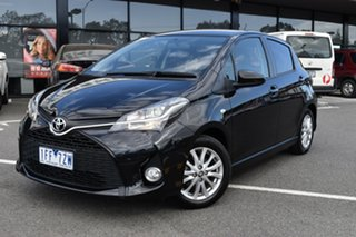 2015 Toyota Yaris NCP131R ZR Black 4 Speed Automatic Hatchback.