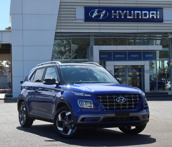 Used Hyundai Venue QX MY20 Elite South Melbourne, 2019 Hyundai Venue QX MY20 Elite Intense Blue 6 Speed Automatic Wagon