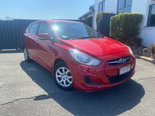 2014 Hyundai Accent RB2 MY15 Active Red 4 Speed Sports Automatic Hatchback.