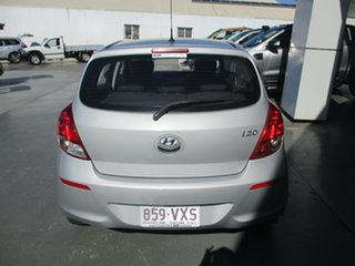 2013 Hyundai i20 PB MY12.5 Active Silver 4 Speed Automatic Hatchback.