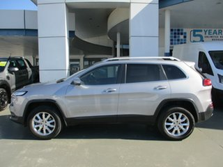 2014 Jeep Cherokee KL MY15 Limited (4x4) Silver 9 Speed Automatic Wagon.