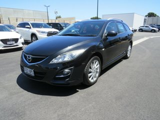 2011 Mazda 6 GH1052 MY12 Touring Black 5 Speed Sports Automatic Wagon.