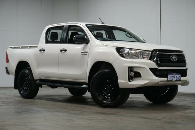 Used Toyota Hilux GUN126R SR Double Cab Welshpool, 2020 Toyota Hilux GUN126R SR Double Cab White 6 Speed Sports Automatic Utility
