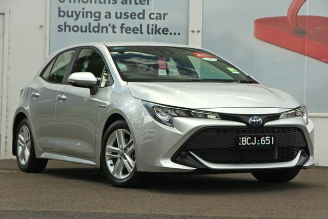 Pre-Owned Toyota Corolla ZWE211R Ascent Sport E-CVT Hybrid Ferntree Gully, 2020 Toyota Corolla ZWE211R Ascent Sport E-CVT Hybrid Silver Pearl 10 Speed Constant Variable