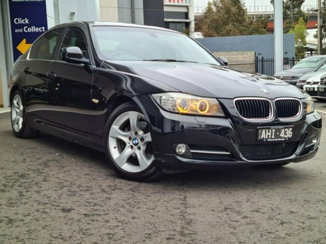 Used BMW 3 Series Port Melbourne, 2011 BMW 3 Series 323i Lifestyle Black 6 Speed Automatic Sedan