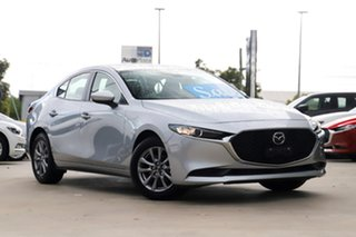 2019 Mazda 3 BP2S76 G20 SKYACTIV-MT Pure Sonic Silver 6 Speed Manual Sedan.