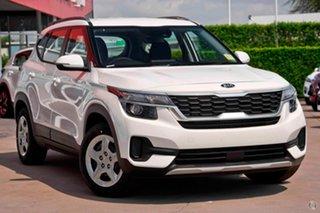 2020 Kia Seltos SP2 MY20 S 2WD Snow White Pearl 1 Speed Constant Variable Wagon.