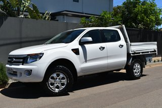 2013 Ford Ranger PX XLS Double Cab White 6 Speed Manual Utility.