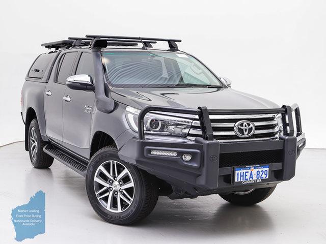 Used Toyota Hilux GUN126R SR5 (4x4), 2017 Toyota Hilux GUN126R SR5 (4x4) Grey 6 Speed Automatic Dual Cab Utility