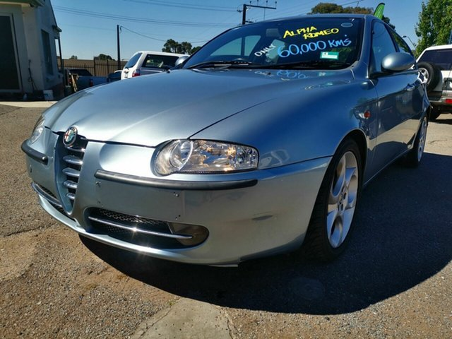 Used Alfa Romeo 147 2.0 Twin Spark Blair Athol, 2002 Alfa Romeo 147 2.0 Twin Spark Blue 5 Speed Manual Hatchback