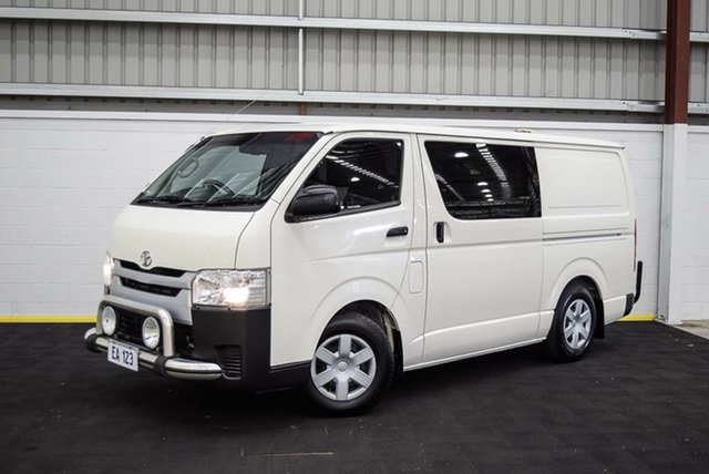 Used Toyota HiAce TRH201R LWB Canning Vale, 2015 Toyota HiAce TRH201R LWB White 6 Speed Automatic Van