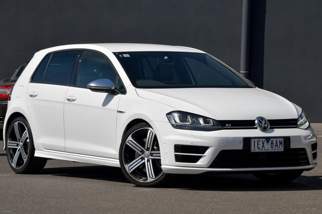 Used Volkswagen Golf VII MY15 R DSG 4MOTION Moorabbin, 2015 Volkswagen Golf VII MY15 R DSG 4MOTION White 6 Speed Sports Automatic Dual Clutch Hatchback