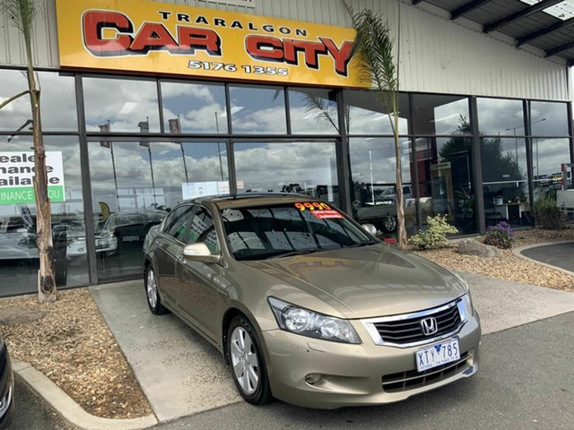 Used Honda Accord 50 V6 Luxury Traralgon, 2010 Honda Accord 50 V6 Luxury Gold 5 Speed Automatic Sedan