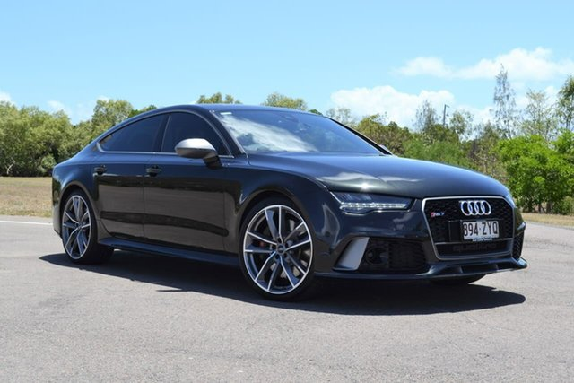Used Audi RS 7 4G MY16 performance Sportback Tiptronic Quattro Mundingburra, 2016 Audi RS 7 4G MY16 performance Sportback Tiptronic Quattro Black 8 Speed Sports Automatic