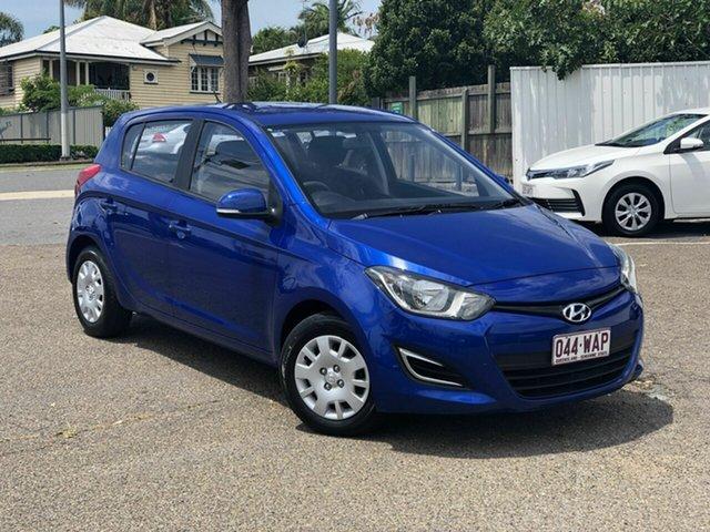Used Hyundai i20 PB MY14 Active Chermside, 2014 Hyundai i20 PB MY14 Active Blue 4 Speed Automatic Hatchback