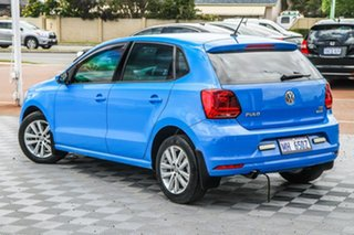 2015 Volkswagen Polo 6R MY15 81TSI DSG Comfortline Blue 7 Speed Sports Automatic Dual Clutch.