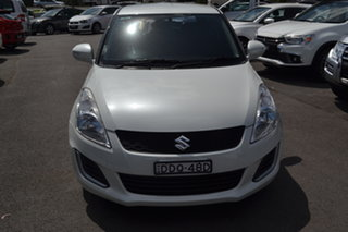 2016 Suzuki Swift FZ MY15 GL White 4 Speed Automatic Hatchback.
