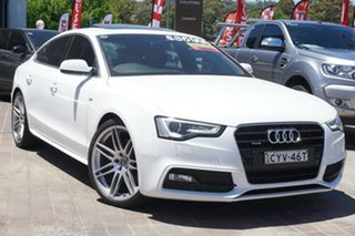 2013 Audi A5 8T MY13 Sportback S Tronic Quattro White 7 Speed Sports Automatic Dual Clutch Hatchback.