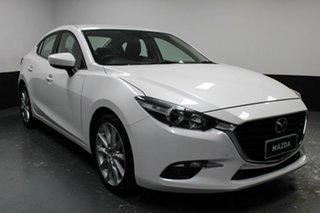 2018 Mazda 3 BN5238 SP25 SKYACTIV-Drive Pearl White 6 Speed Sports Automatic Sedan.