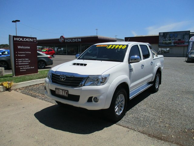 Used Toyota Hilux KUN26R MY14 SR5 Double Cab North Rockhampton, 2014 Toyota Hilux KUN26R MY14 SR5 Double Cab White 5 Speed Automatic Utility