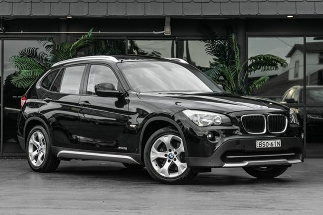 Used BMW X1 E84 MY11 sDrive18i Steptronic Bowen Hills, 2010 BMW X1 E84 MY11 sDrive18i Steptronic Black 6 Speed Sports Automatic Wagon