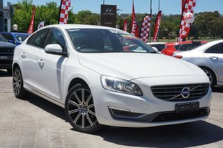 2013 Volvo S60 F Series MY13 T4 PwrShift White 6 Speed Sports Automatic Dual Clutch Sedan.