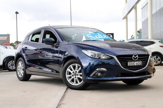 Used Mazda 3 BM5478 Maxx SKYACTIV-Drive Kirrawee, 2015 Mazda 3 BM5478 Maxx SKYACTIV-Drive Blue 6 Speed Sports Automatic Hatchback