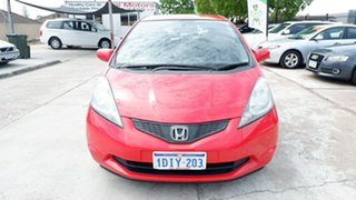 2010 Honda Jazz GE MY10 GLi Red 5 Speed Automatic Hatchback.