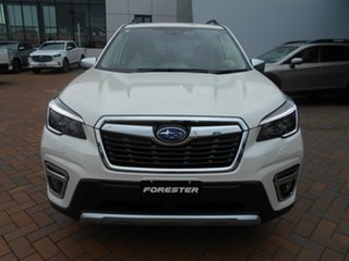 2020 Subaru Forester S5 MY21 2.5i-S CVT AWD Crystal White 7 Speed Constant Variable Wagon.