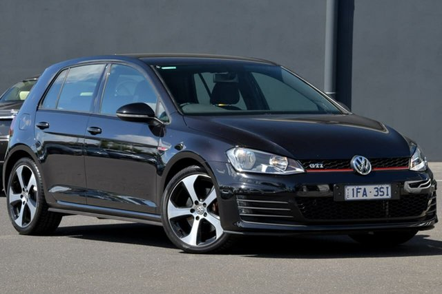 Used Volkswagen Golf VII MY15 GTI DSG Moorabbin, 2015 Volkswagen Golf VII MY15 GTI DSG Black 6 Speed Sports Automatic Dual Clutch Hatchback