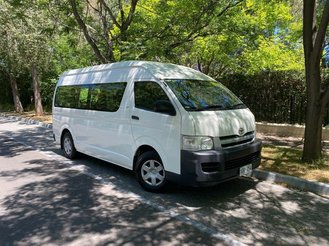Used Toyota HiAce TRH223R Commuter High Roof Super LWB Hawthorn, 2007 Toyota HiAce TRH223R Commuter High Roof Super LWB White 4 Speed Automatic Bus