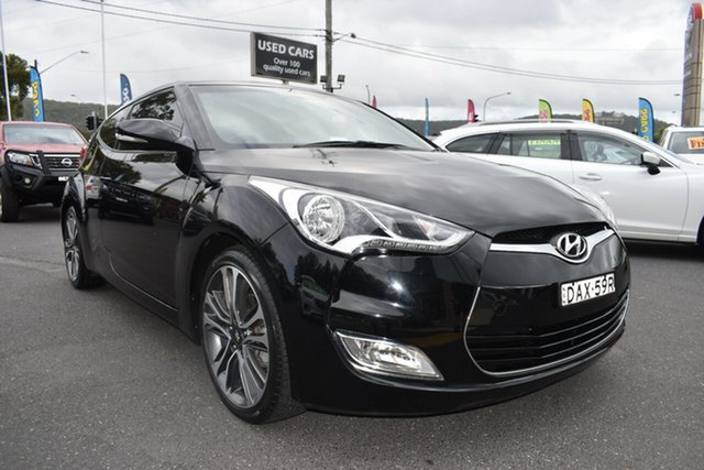 Used Hyundai Veloster FS5 Series II Coupe Gosford, 2015 Hyundai Veloster FS5 Series II Coupe Black 6 Speed Manual Hatchback