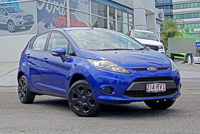 Used Ford Fiesta WT CL PwrShift Springwood, 2011 Ford Fiesta WT CL PwrShift Blue 6 Speed Sports Automatic Dual Clutch Hatchback
