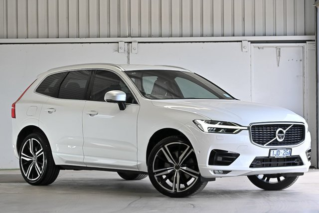 Used Volvo XC60 UZ MY18 T6 AWD R-Design Laverton North, 2018 Volvo XC60 UZ MY18 T6 AWD R-Design White 8 Speed Sports Automatic Wagon