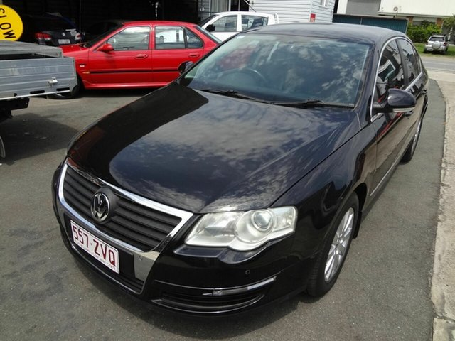 Used Volkswagen Passat 3C 2.0 TDI Coopers Plains, 2007 Volkswagen Passat 3C 2.0 TDI Black 6 Speed Direct Shift Sedan