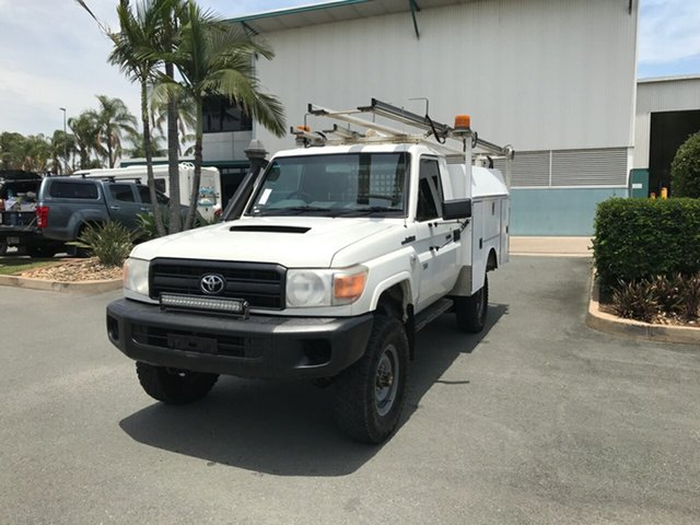 Used Toyota Landcruiser VDJ79R MY13 Workmate Acacia Ridge, 2013 Toyota Landcruiser VDJ79R MY13 Workmate French Vanilla 5 speed Manual Cab Chassis