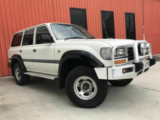 1996 Toyota Landcruiser HZJ80R GXL White 5 Speed Manual Wagon.