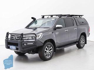 2017 Toyota Hilux GUN126R SR5 (4x4) Grey 6 Speed Automatic Dual Cab Utility.