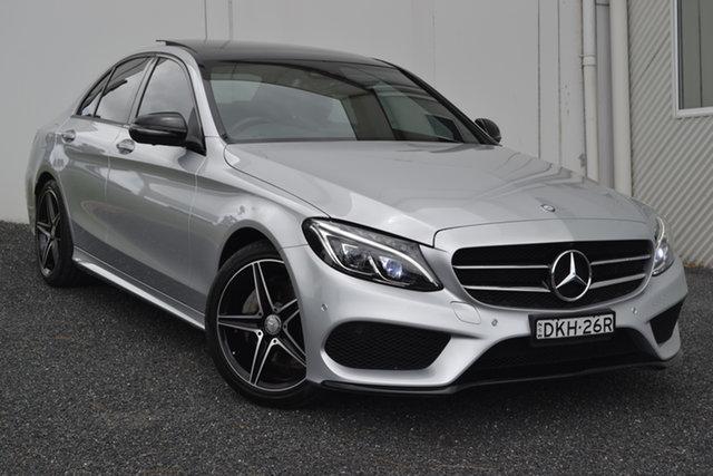 Used Mercedes-Benz C-Class W205 807MY C200 7G-Tronic + Maitland, 2016 Mercedes-Benz C-Class W205 807MY C200 7G-Tronic + Iridium Silver 7 Speed Sports Automatic Sedan
