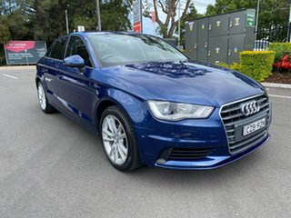 2014 Audi A3 8V MY15 Attraction S Tronic Blue 7 Speed Sports Automatic Dual Clutch Sedan.