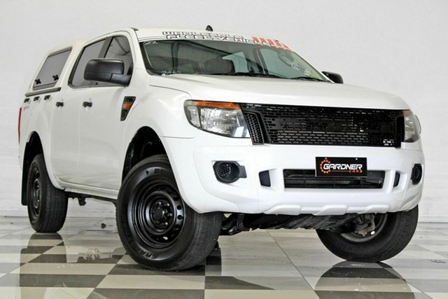Used Ford Ranger PX XL 2.2 Hi-Rider (4x2) Burleigh Heads, 2014 Ford Ranger PX XL 2.2 Hi-Rider (4x2) White 6 Speed Automatic Crew Cab Pickup
