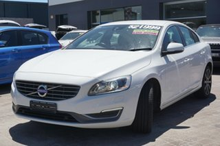2013 Volvo S60 F Series MY13 T4 PwrShift White 6 Speed Sports Automatic Dual Clutch Sedan