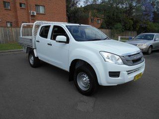 2015 Isuzu D-MAX TF MY15 SX (4x4) White 5 Speed Manual Crew Cab Chassis.