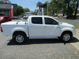 2014 Toyota Hilux KUN26R MY14 SR5 Double Cab White 5 Speed Automatic Utility.